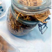 Glutenfreie Spaghetti, Paleo Nudeln aus Sesammehl 250 g