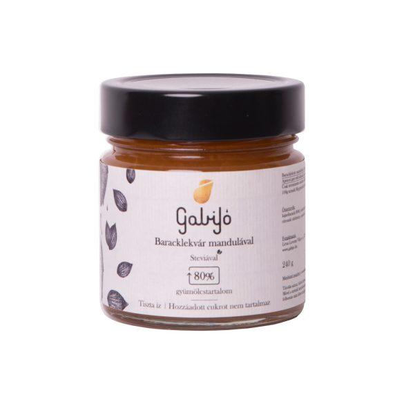 Gabijó Aprikosen-Fruchtaufstrich mit Mandeln (80 % Frucht)