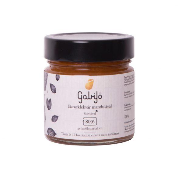 Gabijó Aprikosen-Fruchtaufstrich mit Mandeln (80 % Frucht) 240 g