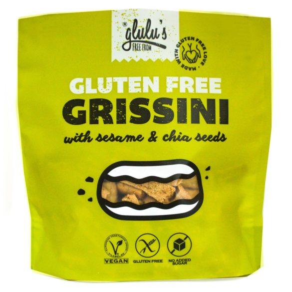 glulu's  FreeFrom zuckerfreie Grissini mit Körnern 100 g  MHD: 23.08.21 (glutenfrei, vegan, sojafrei)