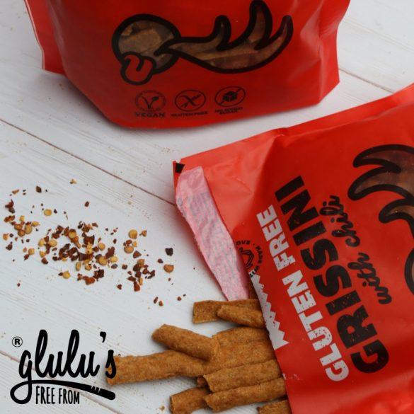 glulu's FreeFrom zuckerfreie Grissini mit Chili 100 g MHD: 16.08.21 (glutenfrei, vegan, sojafrei)
