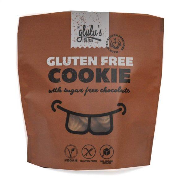 glulu's FreeFrom zuckerfreie Schokokekse 100 g (glutenfrei, vegan, sojafrei)