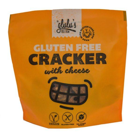 glulu's FreeFrom zuckerfreie Käsecracker 100 g (glutenfrei, vegan, sojafrei)