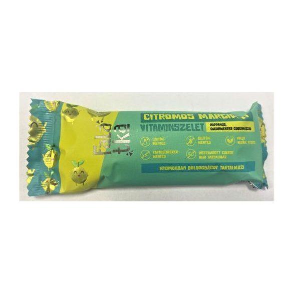 Häppchen Zitronen-Marzipan Fruchtriegel  40 g ( glutenfrei,  vegan, paleo, ohne Zuckerzusatz)