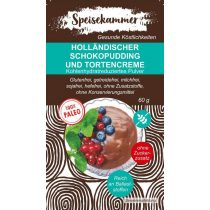 Speisekammer Holländischer Schokopudding und Tortencreme Pulver 60 G (Paleo, glutenfrei, maisfrei, sojafrei, kohlenhydratreduziert)
