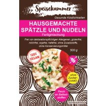 Speisekammer Fertigmischung für Vegane Hausgemachte Spätzle und Nudeln 500 G (glutenfrei, sojafrei)