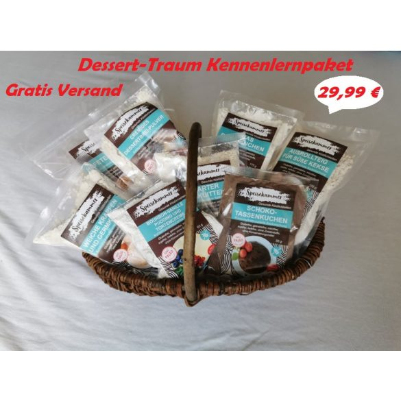 Speisekammer Dessert-Traum Kennenlernpaket (glutenfrei, maisfrei, sojafrei, kohlenhydratreduziert)